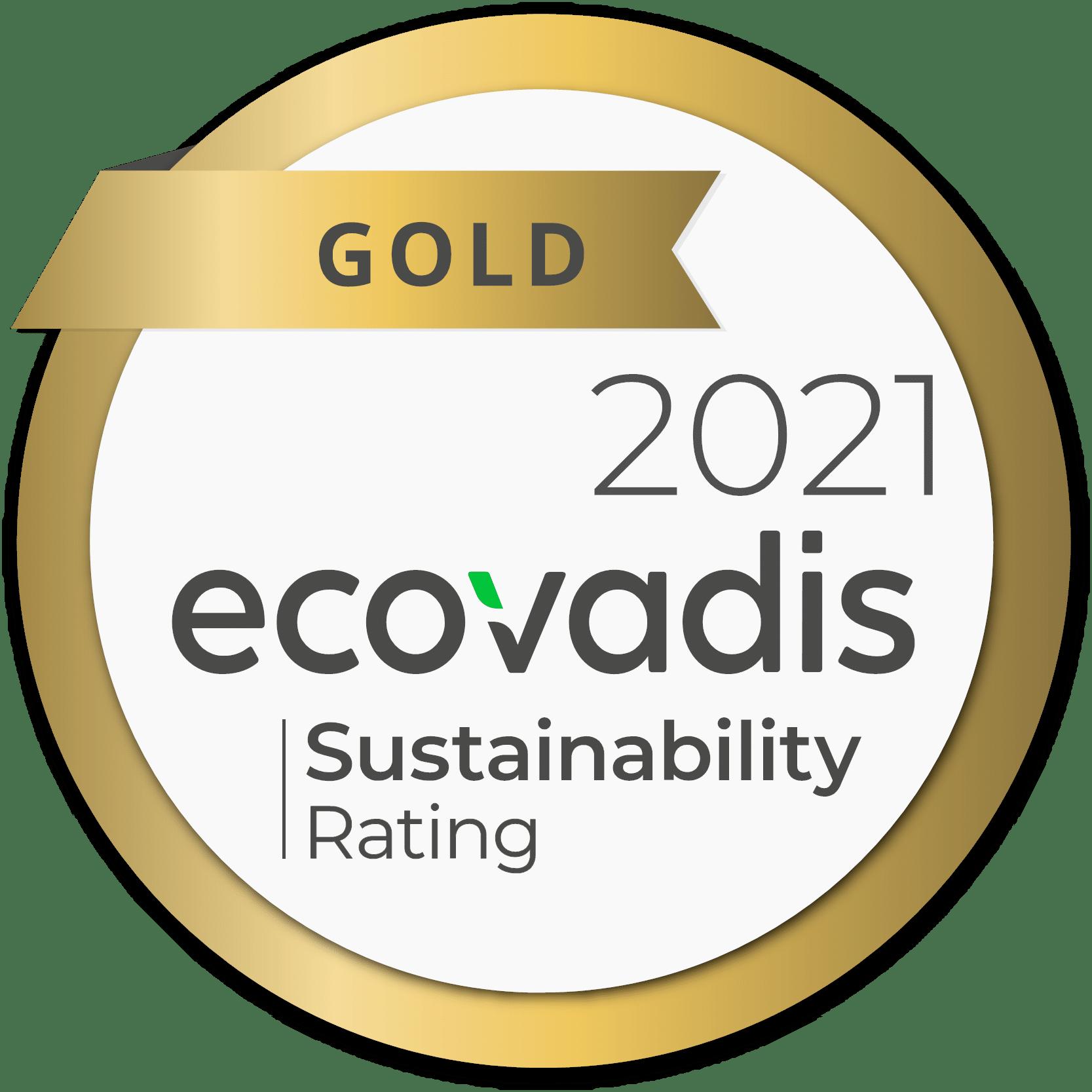 OTEGO Ecovadis GOLD sustainability
