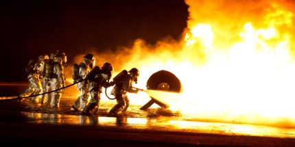 Firefighters In The Flames